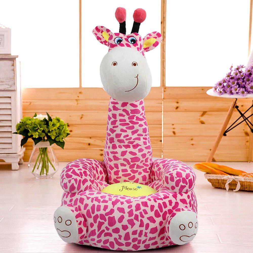 2018 Hot Baby Sofa Seat Cute Cartoon Children Small Seat Sofa Nest Chair Giraffe Plush Toy Sofa Seats For Boys Girls 3 Colors new arrival large about 55cm cartoon animal design plush seat cushion tatami plush toy sofa floor seat w5291