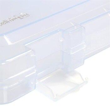 Fashion Transparent File Box PP Plastic File Case Information Box Desktop Storage Office Stationery Deli 5702