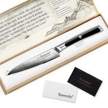 SUNNECKO 5 Damascus Steel Steak Knife Japanese VG10 Core Blade Kitchen Knives G10 Handle Chefs Vegetable Meat Dinner