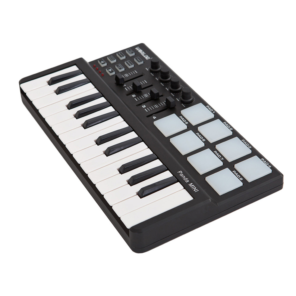 Buy Midi Keyboard Usb 25 Key Controller Mini Portable Drum Pad Set With Cable From
