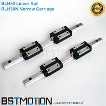 30mm ינארית מדריך Rail BLH30 400mm 500mm 600mm 800mm 1000mm 1100mm 1200mm 1400mm 1500mm כל אורך + BLH30N מרכבה מרובעת שקופיות