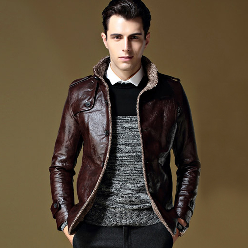 Popular Leather Jacket Mens Cheap-Buy Cheap Leather Jacket Mens ...
