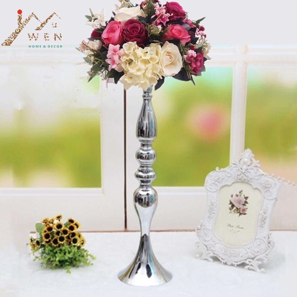 "3 Farben Metall Kerzenhalter 50 Cm/20 ""blume Vase Rack Kerze Stick Hochzeit Tafelaufsatz Event Straße Blei Kerze Steht"