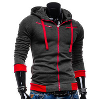 2017 New Spring And Autumn Men S Casual Cotton Hoodie Jacket Male Hight Quality 5 Colors