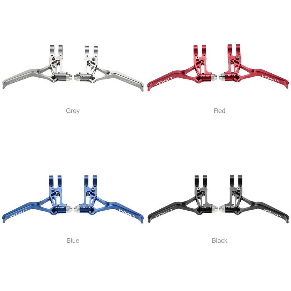 Lixada Fahrrad CNC Aluminium Bremshebel MTB Mountainbike 3 Finger Mechanische Bremshebel 1 Paar