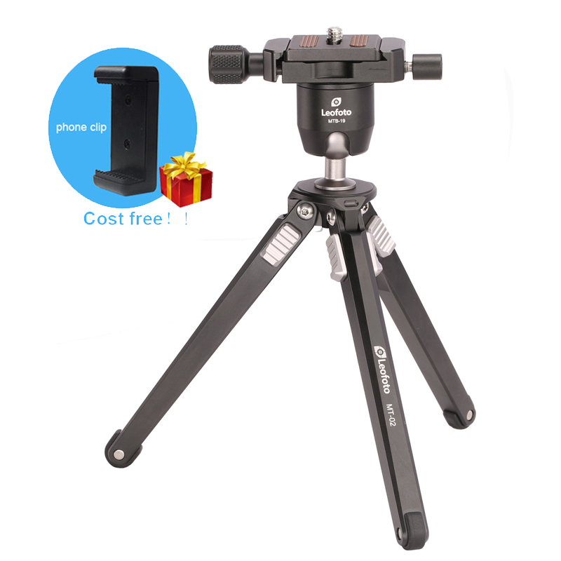 Leofoto Compact Aluminum Camera Travel Tripod Stand with 360 Ball Head for Travelers Table Tripod for