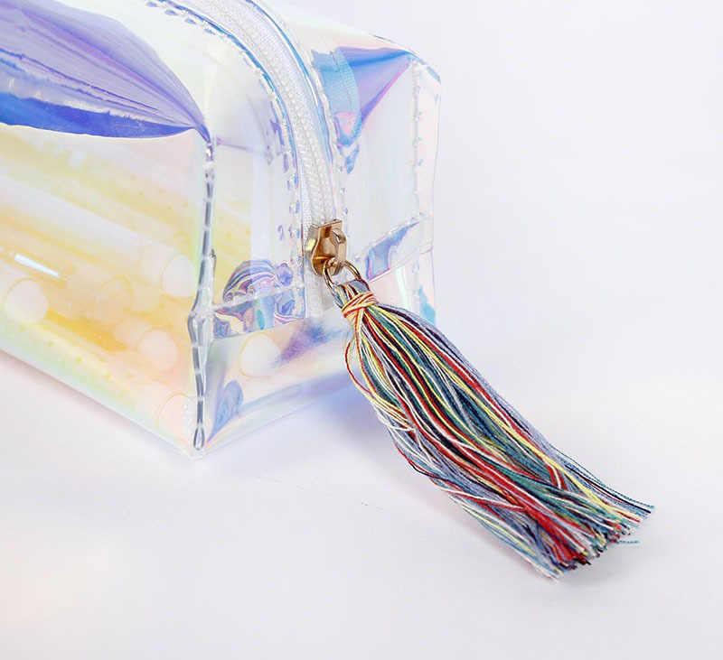 KPOP WANNA una cartera colorida de almacenamiento láser bolsa de pluma bolsa de papelería láser al por mayor nuevo