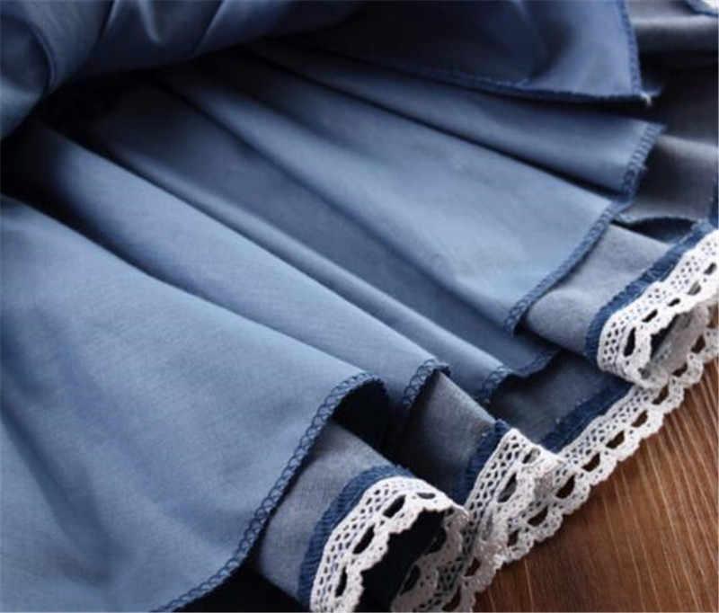 סתיו קיץ 2017 אביב בנות חצאית ילדה חצאיות תחרה קשת ג 'ינס לילדים עבור תינוק פנטזיה בנות חצאיות טוטו טוטו עוגת Saia AA2362