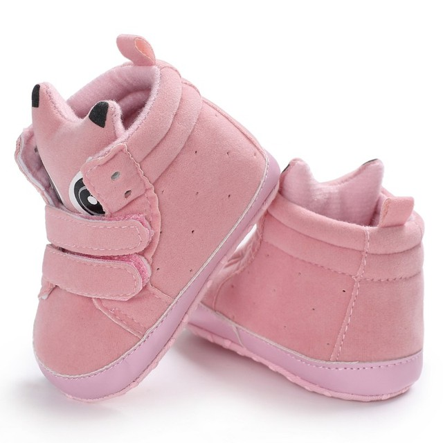 new style c058c ee0b2 Infant Shoes Boy Girl Sneakers Animal Shaped Warm High-top Soft Sole Toddle  Shoes Mocassins First Walkers Y13