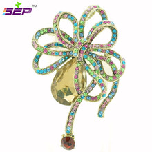 Vintage Style Crystals Rhinestone Brooch Pins Accessories Women Brooches Pin Wedding Jewelry 6414