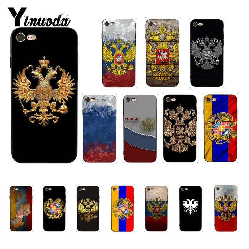 US $0 66 33% OFF|Yinuoda Armenia Albania Russia flag Emblem coat of arms  Design PhoneCase for iPhone 5 5Sx 6 7 7plus 8 8Plus X XS MAX XR 10-in