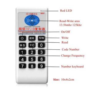 Image 2 - Handheld 125Khz 13.56MHZ Copier Duplicator Cloner RFID NFC IC card reader & writer + 3pcs 125KHZ +3pcs 13.56MHZ cards