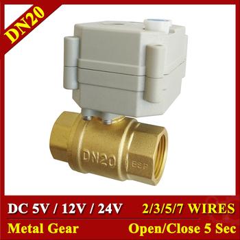 DC 24 V 12 V 5 V BSP NPT mosiądz 3 4 #8221 siłownik elektryczny zawór 2 3 5 7 przewody zawór kulowy z napędem ze sterowaniem ręcznym i wskaźnik tanie i dobre opinie Tsai Fan Ball 3 4 NPT BSP 1 0Mpa Standard Z Ręcznym I Instrukcji Water 5V 12V 24VDC power Brass TF20-B2 Series 1 - 95 degree C