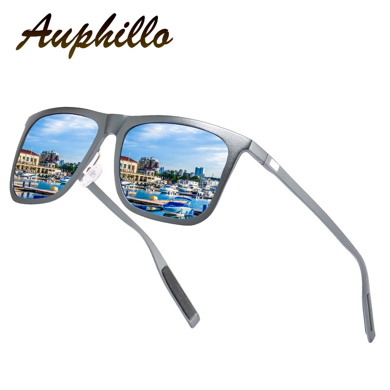Men Sunglasses Luxury Brand Aluminum Magnesium Polarized Driving Glasses UV400 Colorful Square 158