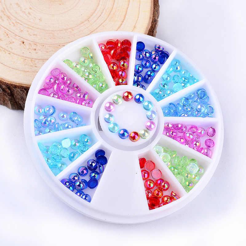 1Box Mixed Color Stone Nail Art Templates Pure Clear Jelly Silicone nail stamping plate Transparent Nail Stamp Nail Art Kawaii