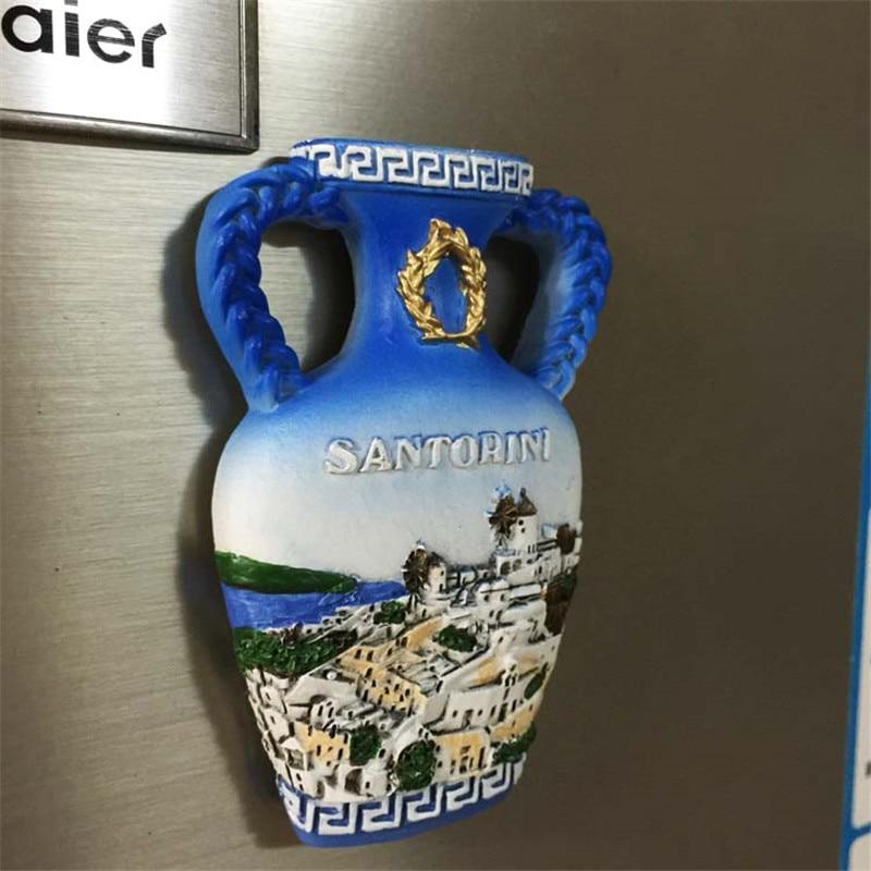 Doprava zdarma Řecké Santorini Flower Vase Lednice Magnety Postavy - Hraní rolí