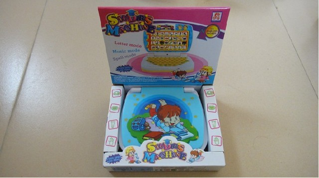 Free Shipping  Laptop computer Children Learning Machine For Baby kids educational Toy,Six languages version,best gift for baby