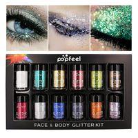 Glitter Elmas Göz Farı Toz 12 adet/takım Kadın Pırıltılı Göz Farı Kozmetik Glitter Toz Makyaj Yeni Varış