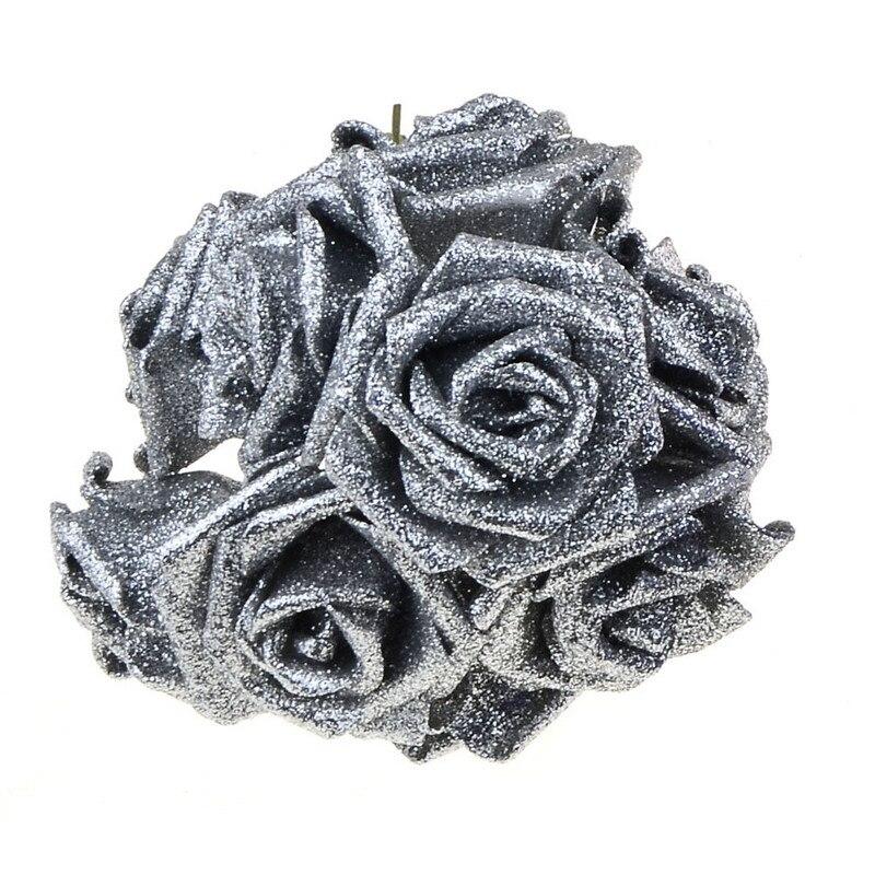 2 rooside stiili 18 värvi 8CM 6.5CM 10Pcs Kunstlikku roosi lilled - Pühad ja peod - Foto 6
