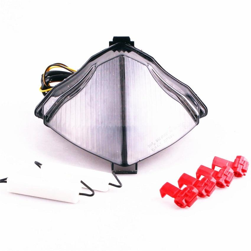 For Yamaha YZF R1 2004 2005 2006 Integrated LED Turn Signal Tail Light Smoke