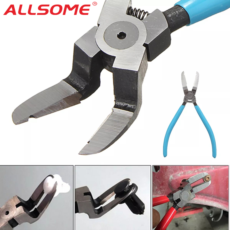 ALLSOME Car Fuel Line Pliers Petrol Clip Pipe Hose Connector Fastener Clips Pliers Release Removal Plier Car Repair Puller Tool
