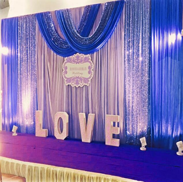 Backdrop Drape Wedding Party Stage Decoration Swags Only Royal Blue 10 20ft