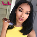 Mink Brazilian Virgin Hair Full Lace Human Hair Wigs Straight Hair Bob Lace Front Wigs With Baby Hair Short Wigs For Black Women