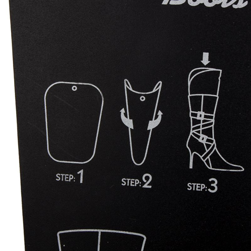 1 Pair Black Boot Stand Holder Women Knee High Boot Inserts Plastic  Supporter Storage Closet Shoe Organizer Rack In Storage Holders U0026 Racks  From Home ...
