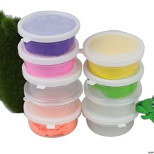 Slime Storage Container Foam Ball Storage Box Case Jars Pots With Lids For Plasticine Soft Clay(China)