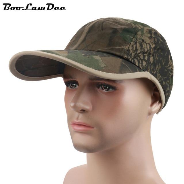 BooLawDee Man jungle camouflage baseball cap dome skin-friendly adjustable widen sweatband long visor free size 4F105