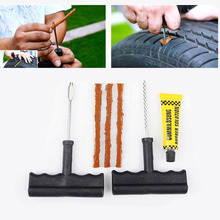 Portable 6Pcs/Set Car Tubeless Tire Tyre Puncture Plug Repair Tools Kits Car Auto Accessories Motorcycle Bicycle Rubber Cement