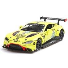 цена на 1:32 car model Aston Martin Le Mans racing alloy car model sound and light pull back sports car decoration jewelry children car