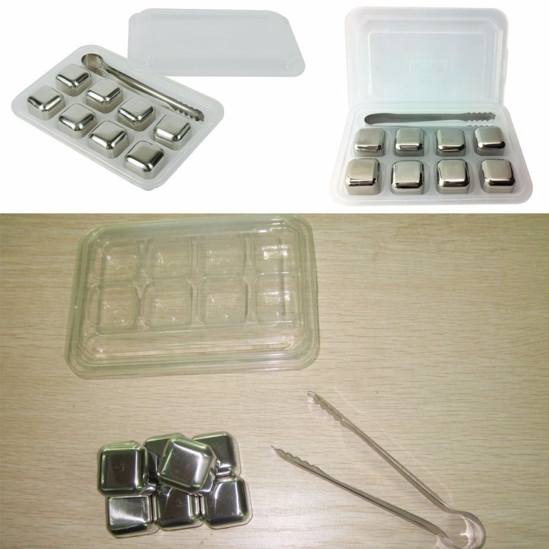 Stainless Steel Ice Cubes 8PCS/Set