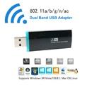 Ac 600 wi fi adaptador de Ultra rápido Dual Band USB 2.0 placa de rede sem fio 2.4 GHz 5 GHz Mini wireless-n Dongle para PC TV Box Desktop
