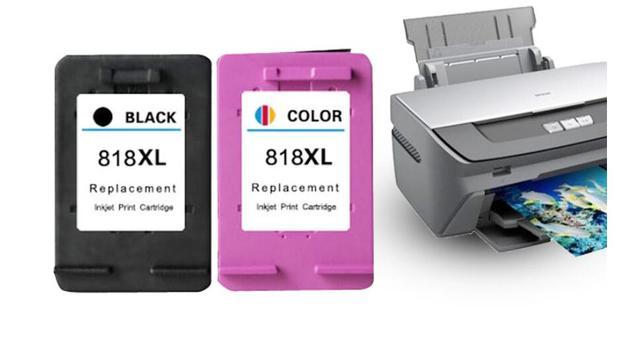For HP818 CC640ZZ 818XL CC641ZZ Black Color Ink Cartridge