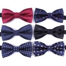 Галстук-бабочка для мужчин, Официальный галстук для мальчиков, мужской модный деловой Свадебный галстук-бабочка, мужская рубашка, krawatte legame, подарок
