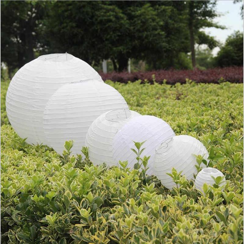 """20 cái/lốc (6 """"15cm-16"""" 40 cm) giấy Trung Quốc Đèn Lồng đèn giấy trang trí đám cưới trắng màu sắc cho Tiệc Cưới trang trí"""