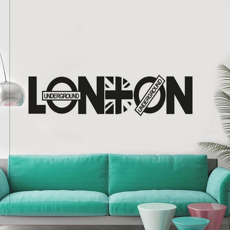 666 26 De Descuentopalabras Modernas De Londres Frases Para Decorar El Hogar Póster Mural Calcomanías De Moda Diseño De Arte Vinilo Pared Pegatina