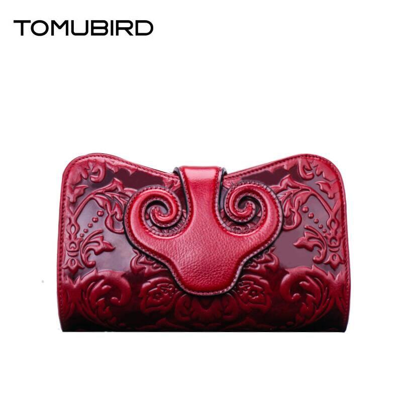 TOMUBIRD 2017 new Designer evening cluches bags Handmade embossed fashion luxury women genuine leather handbags