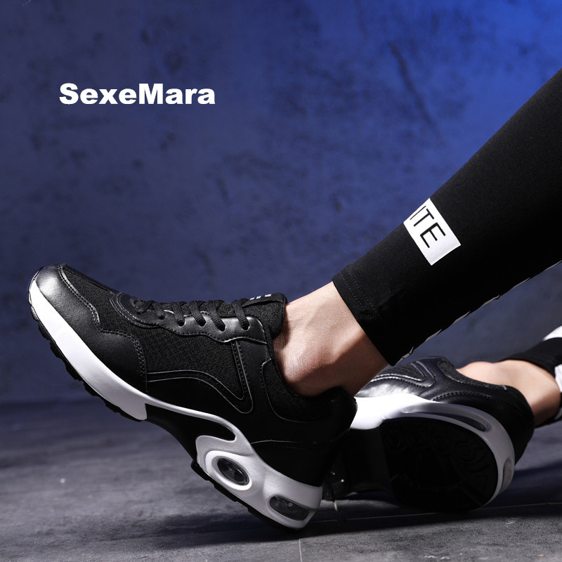 running shoes for men 2018 sneakers men Unisex Air damping sport shoes men Mesh leather Walking Trainers Trekking zapatos hombre