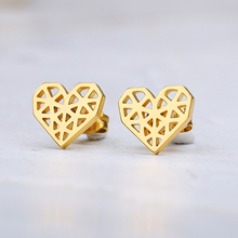 Abstract Heart Stud Earrings Stainless Steel Minimalist Hollow Heart Stud Earrings For Women Girls Jewelry Accessories Gifts abstract heart stud earrings stainless steel minimalist hollow heart stud earrings for women girls jewelry accessories gifts