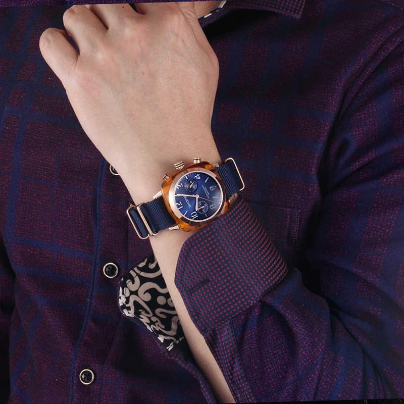 Clásico correa de Nylon hombres relojes deportivos relojes superior de la marca de lujo de Skone calendario reloj de cuarzo reloj cronómetro hombre reloj de pulsera militar