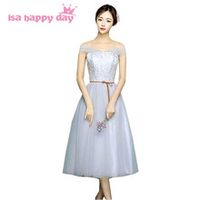 אפור בהיר בנות כבויה כתף להמרה גלישת המפלגה שושבינה שמלות אירוע מיוחד שמלה  חדשה חתונה 2017 38e953810902