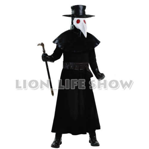 Permainan Dungeon Darkest Wabah Dokter Cosplay Kostum Halloween Dengan Topi Topeng