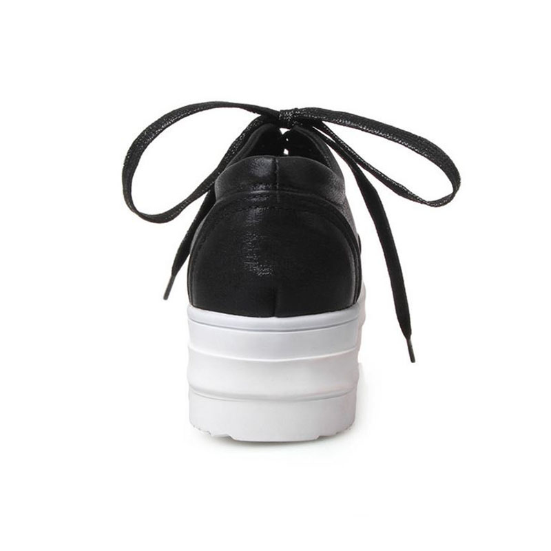 Lebaluka Fitness blanc Femmes argent Blanc 43 À Confort Printemps Casual 31 Rond Sneakers Bout Noir Taille Appartements Lacets Chaussures vv1rq