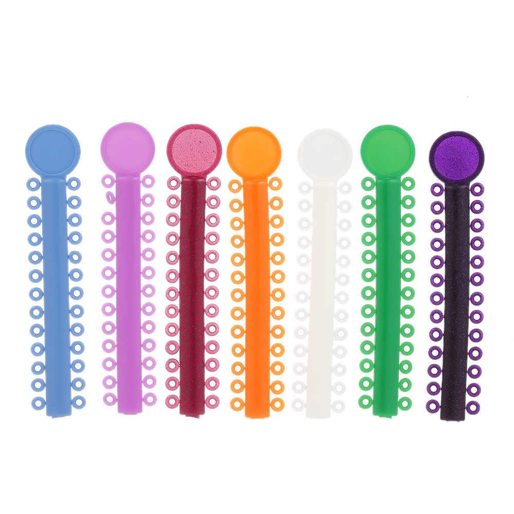 40 יח'\אריזה גבוהה גמישות שיניים יגטורה קשרי אורתודונטיה אלסטי רב צבע גומי להקות לבריאות שיני כלים