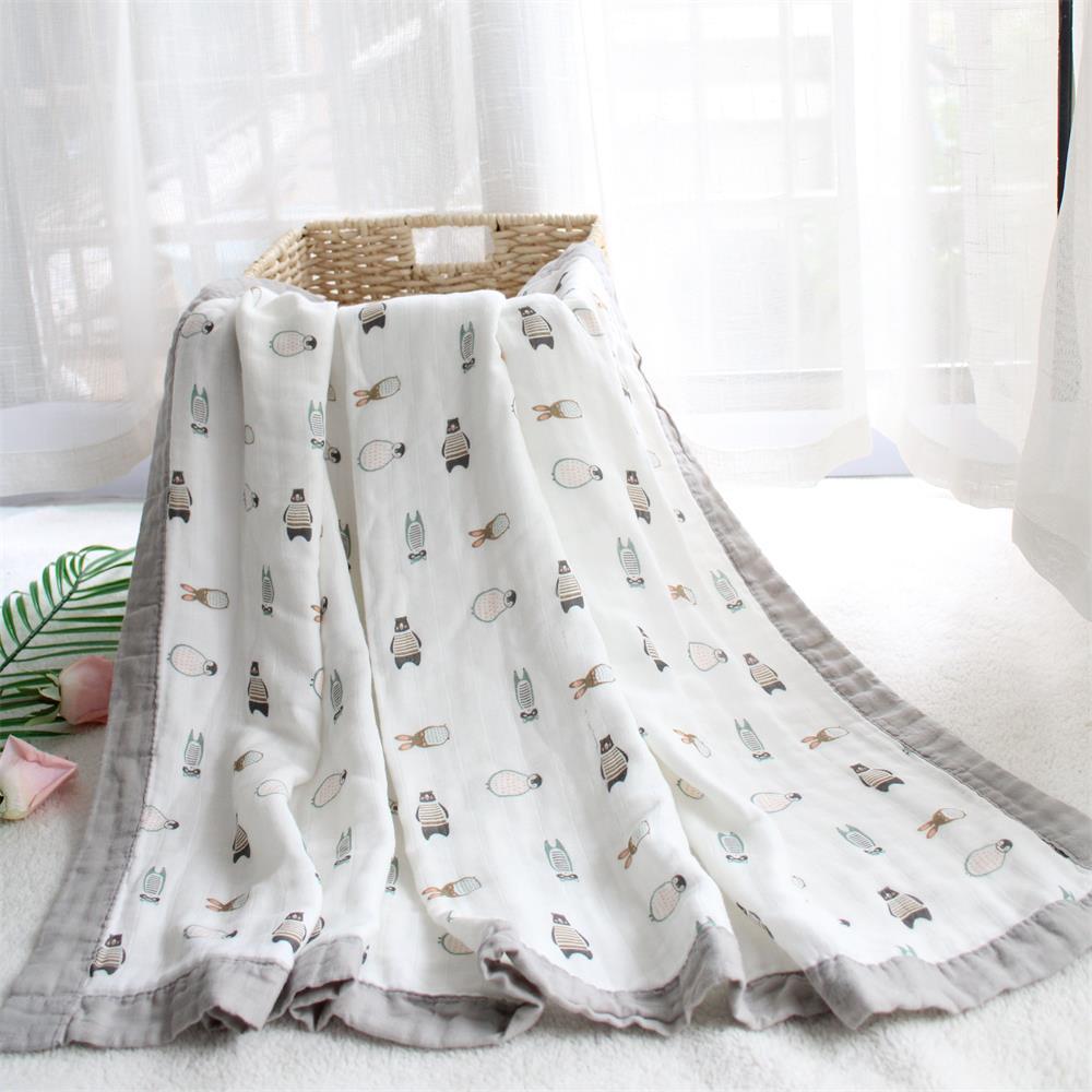 Купить супермягкое муслиновое одеяло 4 слоя из бамбукового волокна