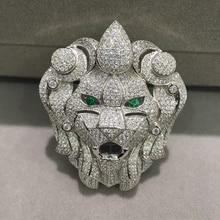 Ювелирных изделий разъемы львиная голова с кубической циркон аксессуары DIY Высокое качество животных Fashin ювелирных изделий