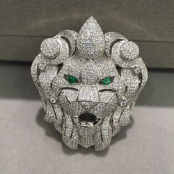 Jewelry Findings Connectors Lion Head silver With Cubic Zircon accessories DIY Top Quality Animal Fashin Women Jewelry