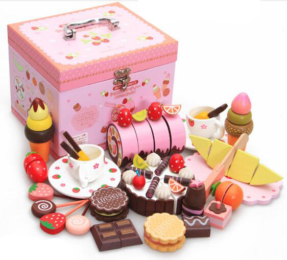 Baby Gifts For Japanese : Baby wooden toys japanese miniature kitchen set strawberry